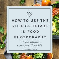 Improve your food photography composition in 15 minutes using the rule of thirds (free download)