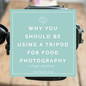 Why You Should be Using a Tripod for Food Photography (+ FREE Tripod Toolkit!)