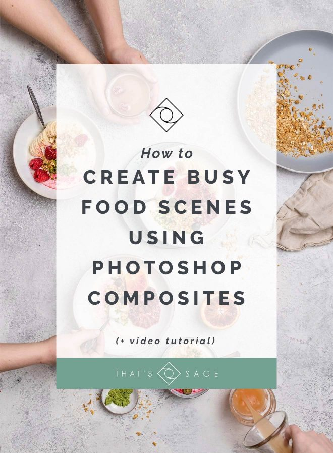How to Use Photoshop Composites to create busy Food Photography scenes