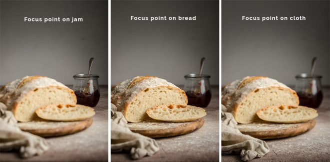 How to choose the best focal point in food photography