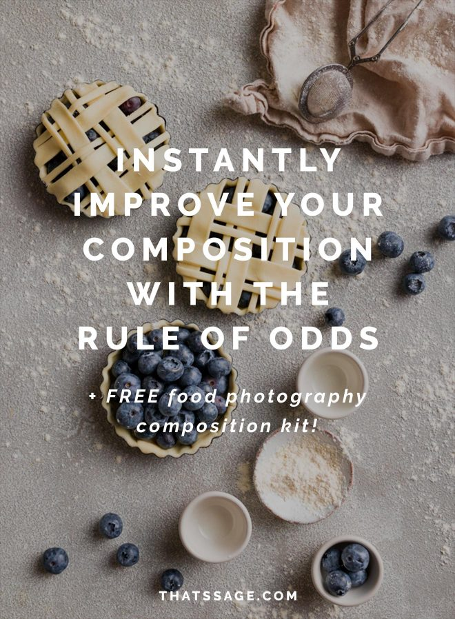 How to Instantly Improve your Food Photography Composition using the Rule of Odds