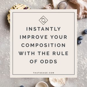 Instantly Improve your Food Photography Composition using the Rule of Odds