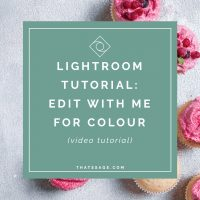 How I Edit Food Photography in Lightroom FOR COLOUR! (HSL Panel)