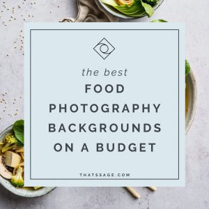 The best food photography backgrounds on a budget. Read this post to find out how I create a variety of different looks in my food photography on a budget.