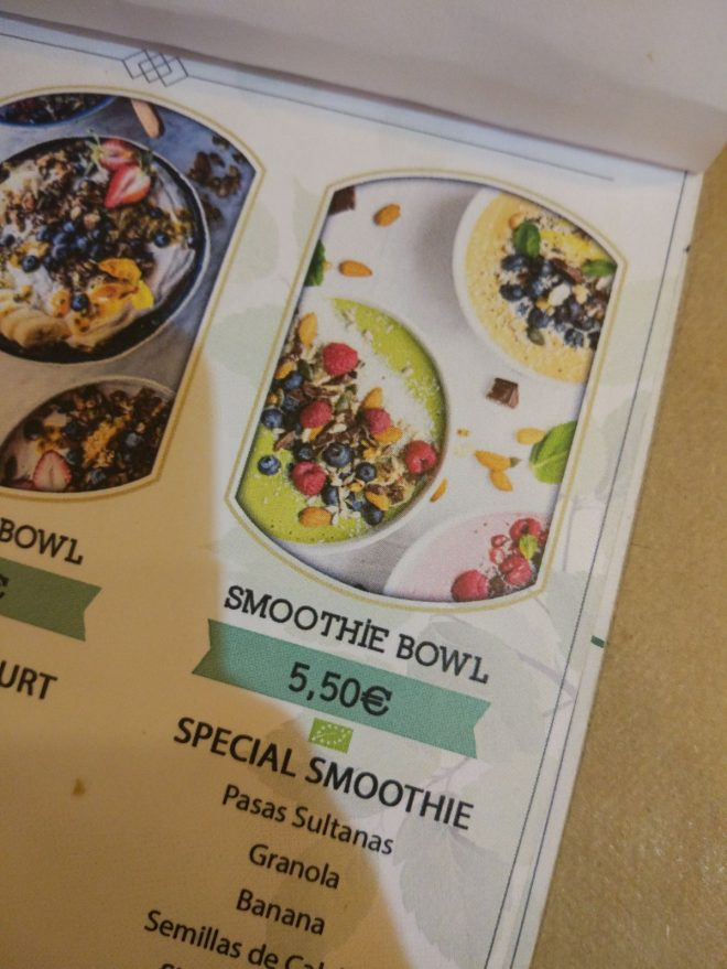 Photo of Cafe Menu with stolen photo