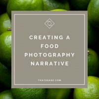 """Limes with text """"creating a food photography narrative"""", photograph by Lauren Caris Short of Food Photography Academy"""